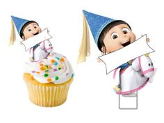 12 despicable me Agnes edible cut out cake by CandyKakes on Etsy, $4.75
