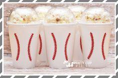 Baseball Party-Baseball Party Cups-Popcorn Cups-Set of 10 Baseball Party Favors, Baseball Party Decorations, Baseball Theme Birthday, Softball Party, Sports Birthday, Graduation Party Decor, 1st Boy Birthday, Birthday Ideas, Softball Wedding