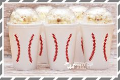 Baseball Party-Baseball Party Cups-Popcorn by PartyCupMedley2