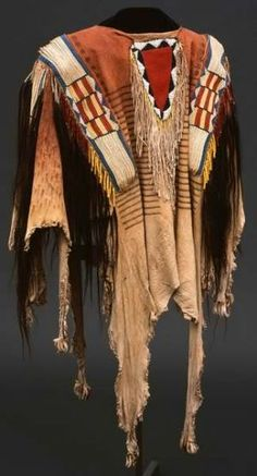 Shown is a rare Northern Plains Indians shirt, circa 1850, one of the unique items from the Paul Dyck collection. Photo courtesy of the Buffalo Bill Historical Center, Cody, Wyoming.