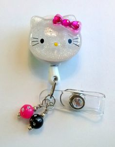Hello kitty badge reel.