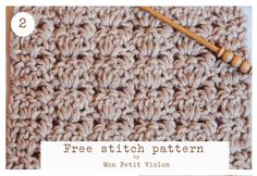 Crochet - Free picture tutorial and pdf pattern at site.