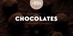 Geometric typeface Chocolates is great for use in web design and on mobile devices