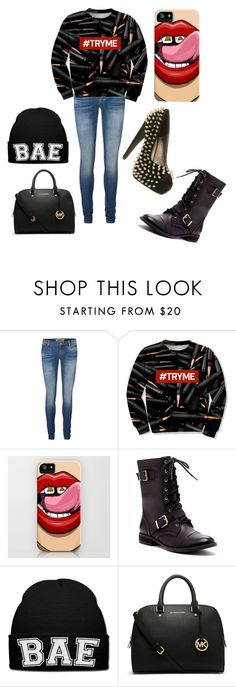 """""""Try me"""" by cotton-candy-on-fleek ❤ liked on Polyvore featuring Vero Moda, Sole Society, MICHAEL Michael Kors and Jeffrey Campbell"""