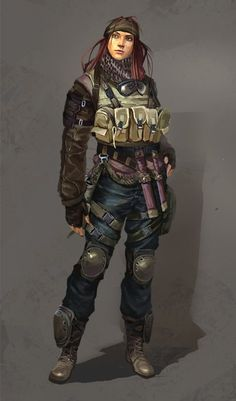 Latter-day Picture  (2d, character, post apocalyptic, girl, woman, soldier)