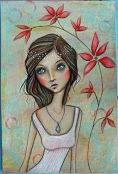 Original+OOAK+6+x+9+Mixed+Media+acrylic+colored+by+Pennystamper,+$45.00