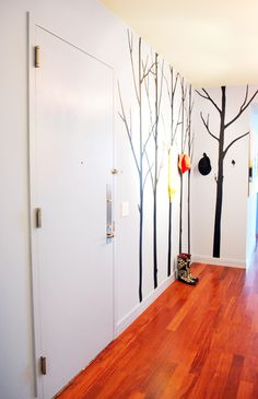 Tree Wall Decal Turned Into A Coat Rack Designed By Ada Gonzalez