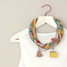 Colorful+statement+necklace++bohemian+style+necklace+by+ATLIART,+$140.00