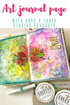 Art journal page for beginners - easy mixed media art journalling - PaperWishArt