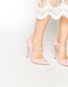 Image 1 of ASOS PALM VIEW Wide Fit High Heels