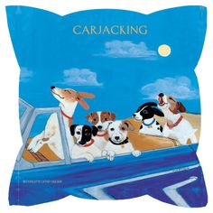 Carjacking Pillow Perfect for car bought for the purpose of transporting Jack Russells!