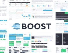 """Check out this @Behance project: """"Boost UI Kit""""…"""
