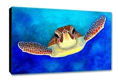 Sea Turtle Painting Print Sea Turtle Artwork Unique by SAXONLYNN