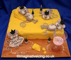 mice cake | Mice and Cheese Birthday Party
