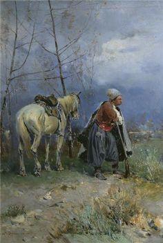 """""""Kozak v stepu"""" by Serhij Vasyl'kivs'kyi, Ukraine"""