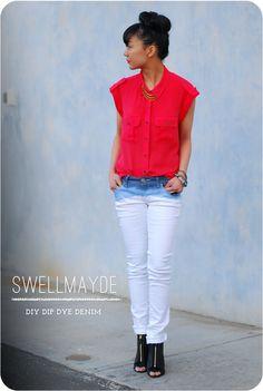 swellmayde: DIY | Dip Dye Ombre Denim