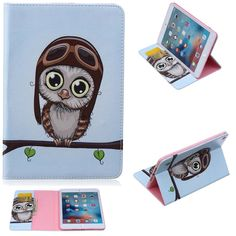 Smart Case For Ipad Air Flower Tree Owl Wallet Card Slot Pu Leather Stand Holder Cover Case For Ipad Air Case With Screen Film Tablets & E-books Case Computer & Office