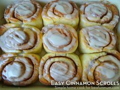 Quick and Easy Cinnamon Scrolls