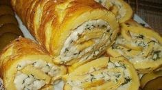 Omelet Roll With Melted Cheese Recipe Cheese Recipes, Seafood Recipes, Appetizer Recipes, Chicken Recipes, Dinner Recipes, Food Network Recipes, Cooking Recipes, Cooking Food, Best Comfort Food