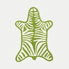 Zebra bath mat.