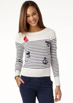 Oh gosh I love everything nautical. This sweater from Delia's :)