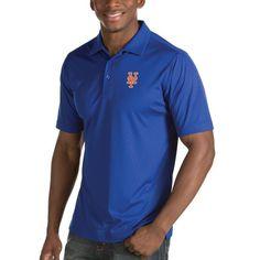 New York Mets Antigua Inspire Desert Dry Polo - Royal - $57.99