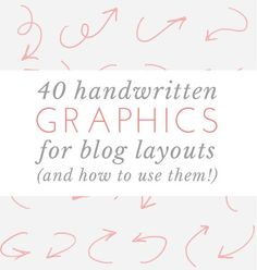 free download - 40 handwritten graphics could be used in prezi or powerpoint designs
