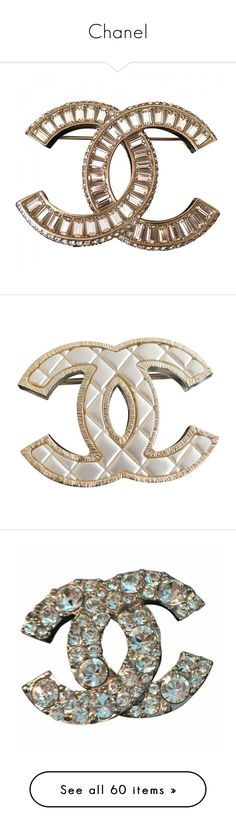 """Chanel"" by berlinmoskva ❤ liked on Polyvore featuring jewelry, brooches, chanel jewelry, chanel, chanel broach, pin brooch, chanel jewellery, accessories, brooch and white"