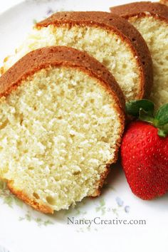Lizzie's Sour Cream Pound Cake from At My Grandmother's Knee