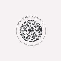 Anne Maria Kensington Logo Design by Harper Maven Design Logo Inspiration, Unique Logo, Modern Logo, Typography Logo, Logo Branding, Anne Maria, Seal Design, Flower Logo, Identity Design