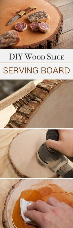 DIY Wood Slice Serving Board