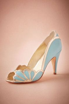 Something borrowed and something serenity blue! A pantone color of the year shoe is perfect for a spring wedding!