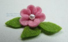 Tutorial de flores em feltro | Gracinhas Artesanato