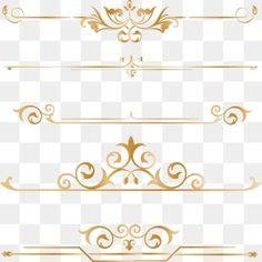 Gold Dividing border frame line PNG and Vector Border Pattern, Gold Pattern, Border Design, Circle Design, Illustration Ligne, Illustration Simple, Adobe Photoshop, Adobe Illustrator, Geometric Lines