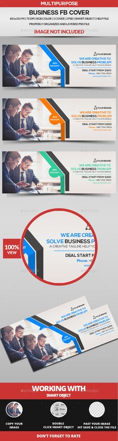 Business Solution Facebook Cover Template  Ar  Facebook Cover