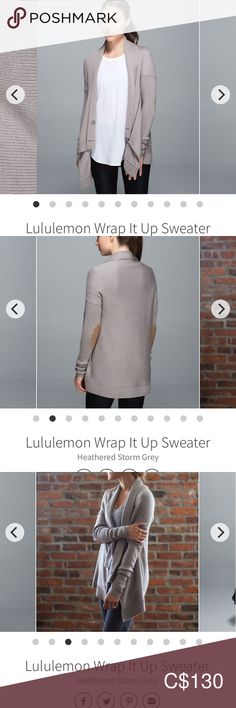 Lululemon Wrap It Up Sweater Plus Fashion, Fashion Tips, Fashion Trends, Hand Warmers, Loose Fit, Merino Wool, Sweater Cardigan, Lululemon, Sweaters For Women