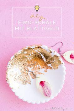 DIY Deko & DIY Geschenkidee : Fimo-Schmuckschale mit Blattgold basteln | Filizity.com | DIY-Blog aus dem Rheinland #myFimo #Fimo Diy Fimo, Polymer Clay, Ancient Beauty, Pottery, Diy Blog, Crafts, Handmade, Food, Decorating Ideas