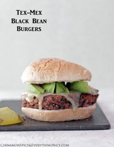 Tex-Mex Black Bean Burgers by Cinnamon Spice and Everything Nice