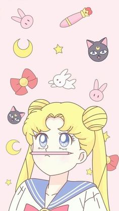 Sailor Moon wallpaper on We Heart It Sailor Mars, Arte Sailor Moon, Sailor Venus, Sailor Moon Tumblr, Sailor Moon Manga, Sailor Moon Crystal, Sailor Scouts, Kawaii Wallpaper, Cartoon Wallpaper