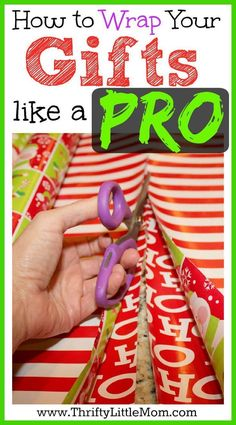 How to Wrap Gifts Like a Pro and avoid busting your budget. See picture tutorials, tips and tricks for making your gifts look amazing this year! #giftswrappingtutorial #giftswrappinghowto