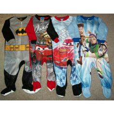 Footie pajamas! I like the last 3