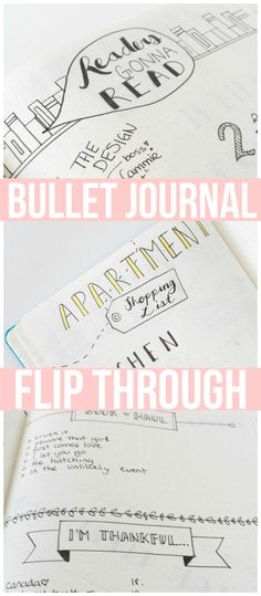 "Bullet Journal Flip Through! My favourite page is my reading tracker....""READERS GONNA READ"" :)"