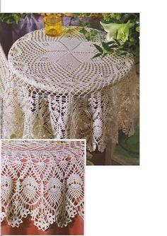 crochet مفارش طاولات كبيره - mumy50 - Веб-альбомы Picasa