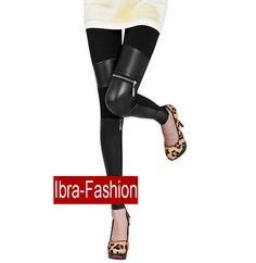Sexy Black Wet look leather pants Zipper Summer Trousers tights leggings-wholesale lingerie,wholesale corsets IBra Fashion