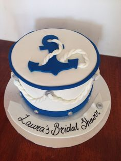 Sailor themed cake navy water boat