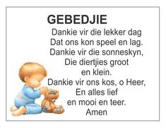 Afrikaans Is Maklik Preschool Poems, Kids Poems, Preschool Worksheets, Preschool Learning, Teaching, Quotes Dream, Life Quotes Love, Quotes Quotes, Bible Study For Kids