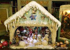 Auctiva Image Hosting German Christmas, Old Christmas, Miniature Christmas, Victorian Christmas, Vintage Christmas, Christmas Crafts, Christmas Ornaments, Xmas, Christmas Market Stall