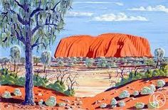 Uluru by Hilary Wirri from Papunya, Central Australia created a 54 x 37 cm Watercolour on Artist Board painting SOLD at the Aboriginal Art Store Indigenous Australian Art, Indigenous Art, Australian Artists, Aboriginal Culture, Aboriginal Artists, Kunst Der Aborigines, Australian Aboriginals, Long Painting, Art Store