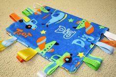 Baby Boy Tractor and Construction Sensory Ribbon by SeamsDivine, $18.00