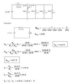 circuitos de mallas y nodos resueltos - Buscar con Google